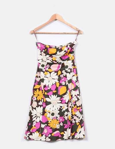 Vestido midi estampado floral  Suiteblanco