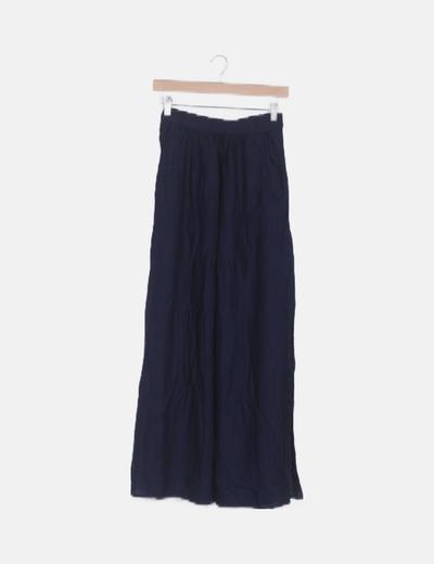 Falda azul abertura