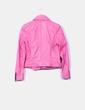 Cazadora biker rosa cremallera lateral Black Rivet