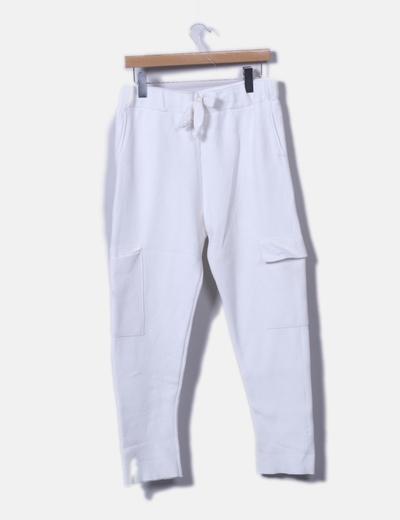 Pantalón deportivo cargo blanco