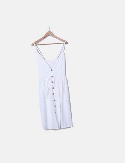 Vestido boho blanco fluido NoName
