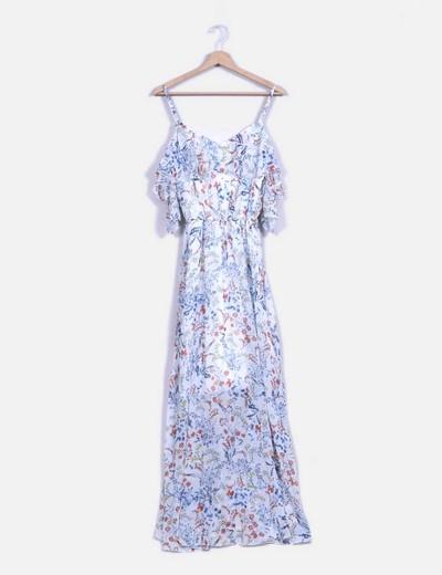 Robe longue avec fleurs Guess