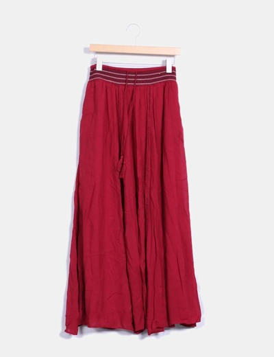 Maxi falda granate  Zara