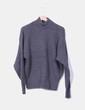 Jersey oversize gris punto grueso Zara