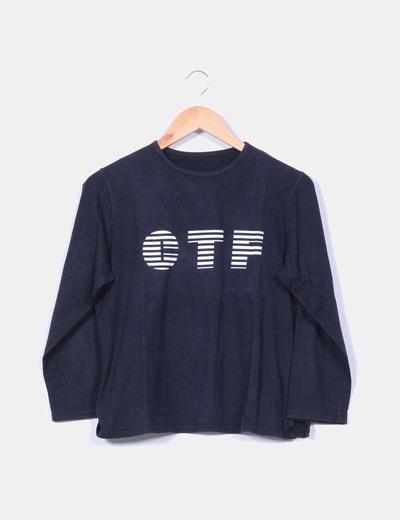 Camiseta estampada azul marino Cortefiel