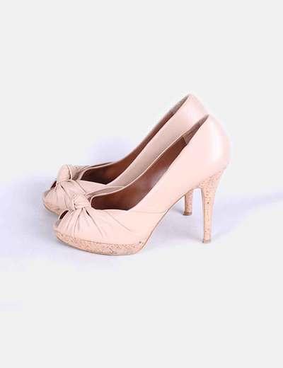 Zapato peep toe nude  Zara