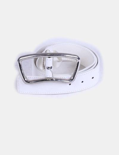 Cinturón blanco gran hebilla NoName