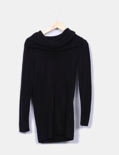 Camisola de malha preta com gola alta H&M