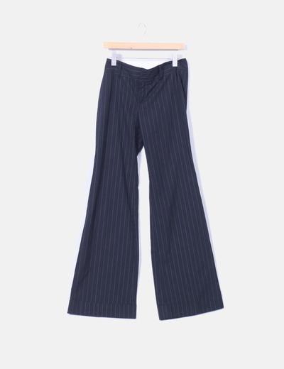 Pantalon negro raya diplomatica Zara