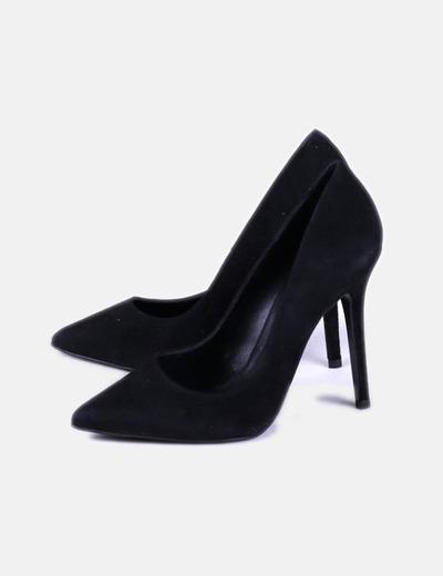 Stilettos serraje negro