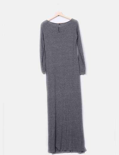 Codigo Basico Vestido longo cinza (desconto de 69%) - Micolet cc411d44165