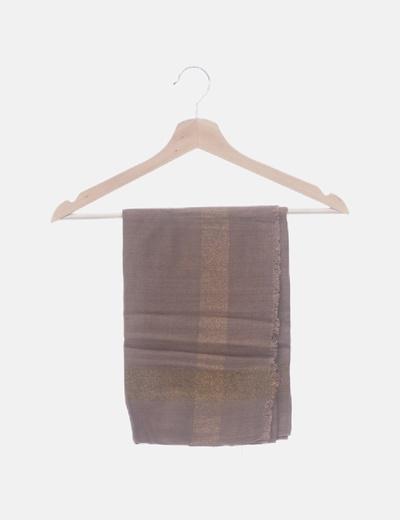 Foulard marrón raya glitter