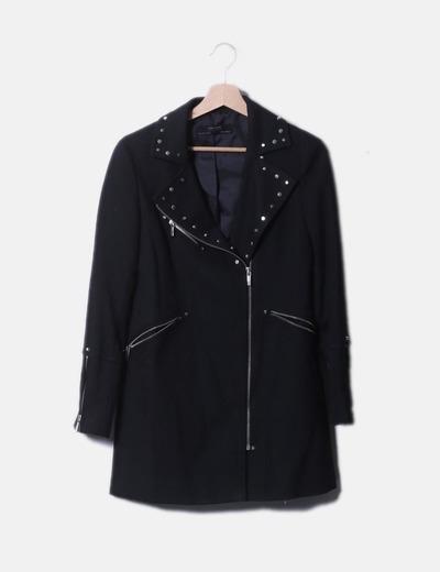 sconto borchie Zara 74 Giacca Micolet con nera w1xqaI0F 98822b14c91