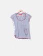 Camiseta gris combinada con strass Derhy
