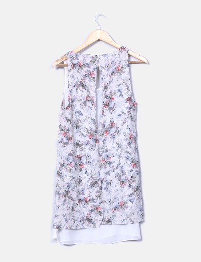 Vestido floral escote en espalda