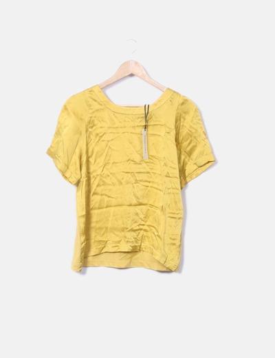 Camiseta manga corta satinada