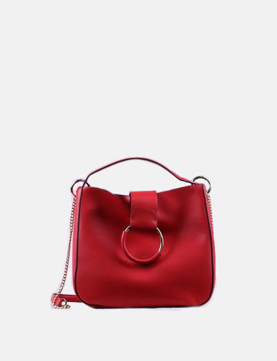 Zara Rote Kunstledertasche mit Goldring (Rabatt 74 %) - Micolet 3c69dea101