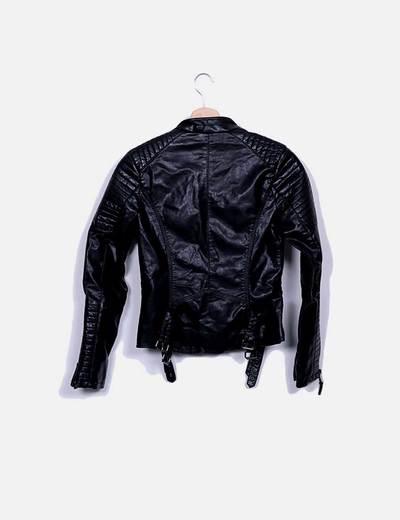 Chaqueta biker negra