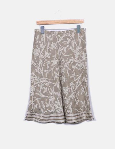 Falda midi estampada