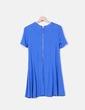 Vestido fluido azul  cremallera Zara