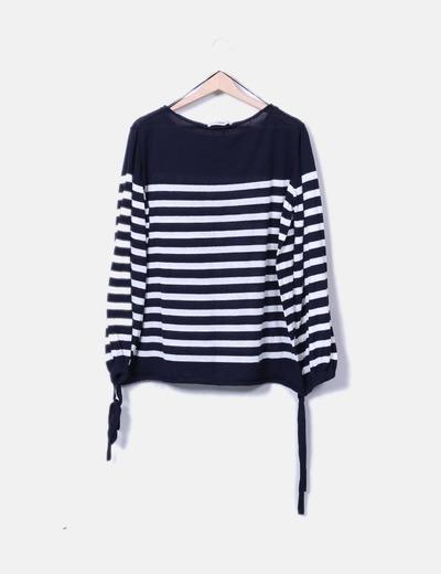 Sueter tricot navy mangas farol