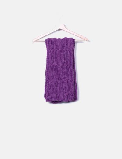 Kodan Écharpe violette tricotée (réduction 92%) - Micolet 9ee107fe323