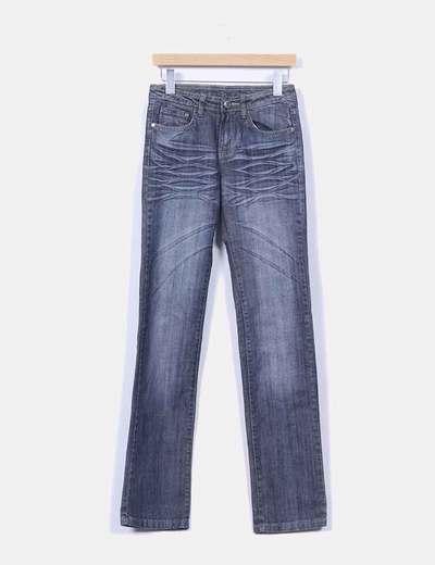 Jeans color oscuro corte recto Cambalache