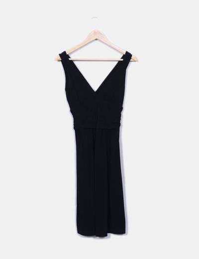 Vestido midi negro Naf Naf