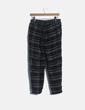Pantalón baggy gris de cuadros Pull&Bear