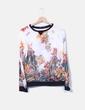 Camiseta semitransparente floral Zara