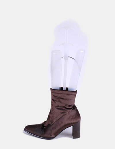 Bottines marron en velours Cortefiel