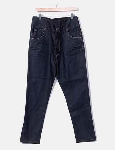 Jeans denim harem azul oscuro