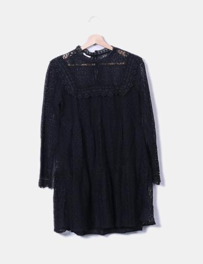 Robe noire vintage Cherry