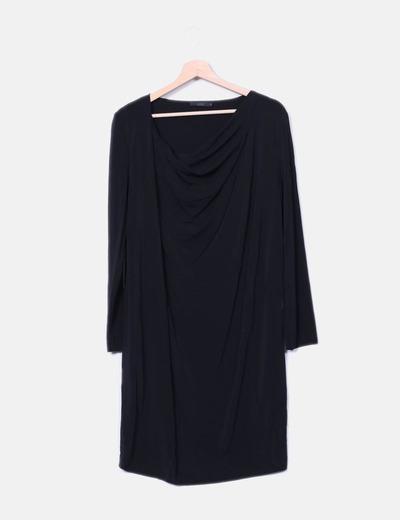 Robe noire baboso visqueuse du cou COS