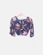 Top de gasa con print floral Pull&Bear
