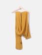 Maxi bufanda de punto mostaza Zara