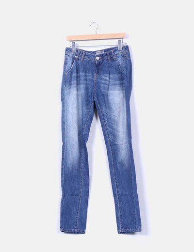 Pantalón ancho tono medio Bershka