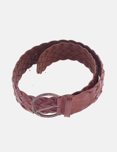 Cinturón trenzado piel
