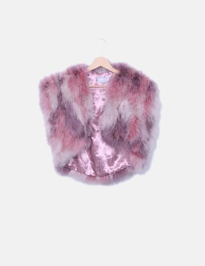 Bolero plumas rosas