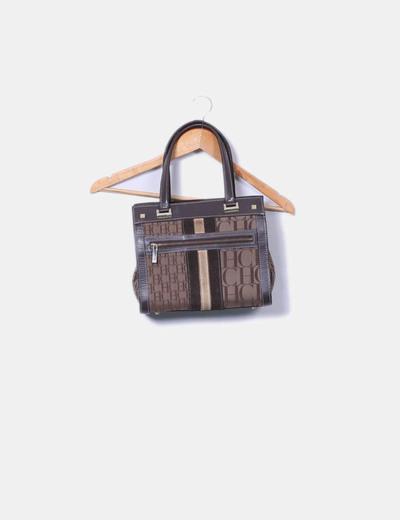 Bolso marrón combinado Carolina Herrera