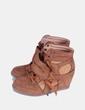 Sneaker marrón con cuña interior Sun Color