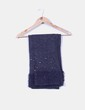 Bufanda rizo azul marino con tachas NoName