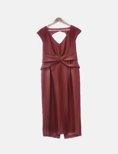 Vestido rojo escote espalda