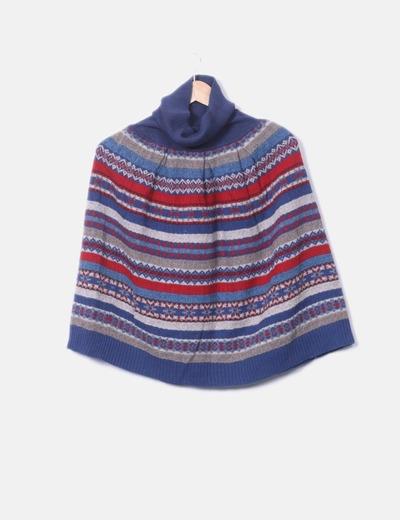 Poncho lana étnico cuello vuelto Marc Jacobs