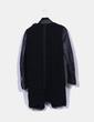 Abrigo rizo combinado negro Zara