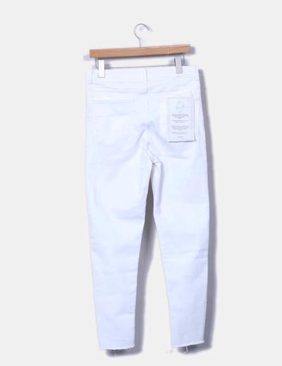 réduction Micolet Taille Zara Haute Denim Blanc Pantalon 81 wqxTRX6p