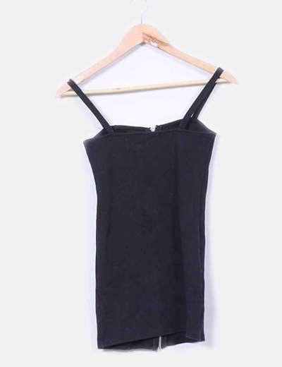 Mini vestido entallado cremallera H&M