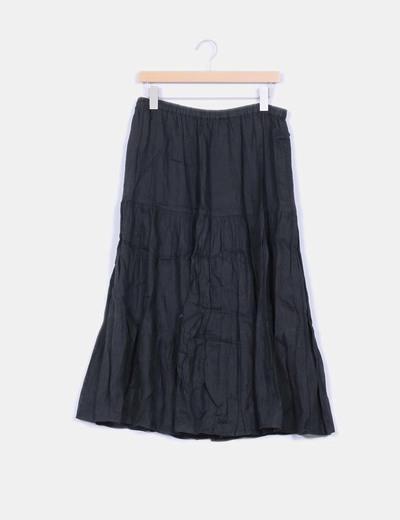 Falda negra larga vuelo  Bissú