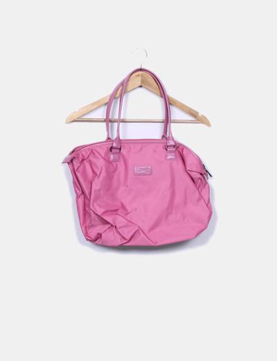 Bolso shopper rosa Lipault