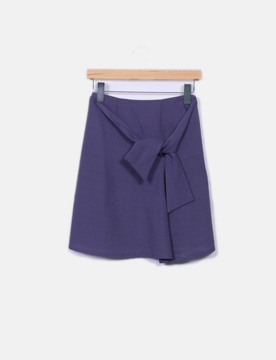 Minifalda morada Adolfo Dominguez